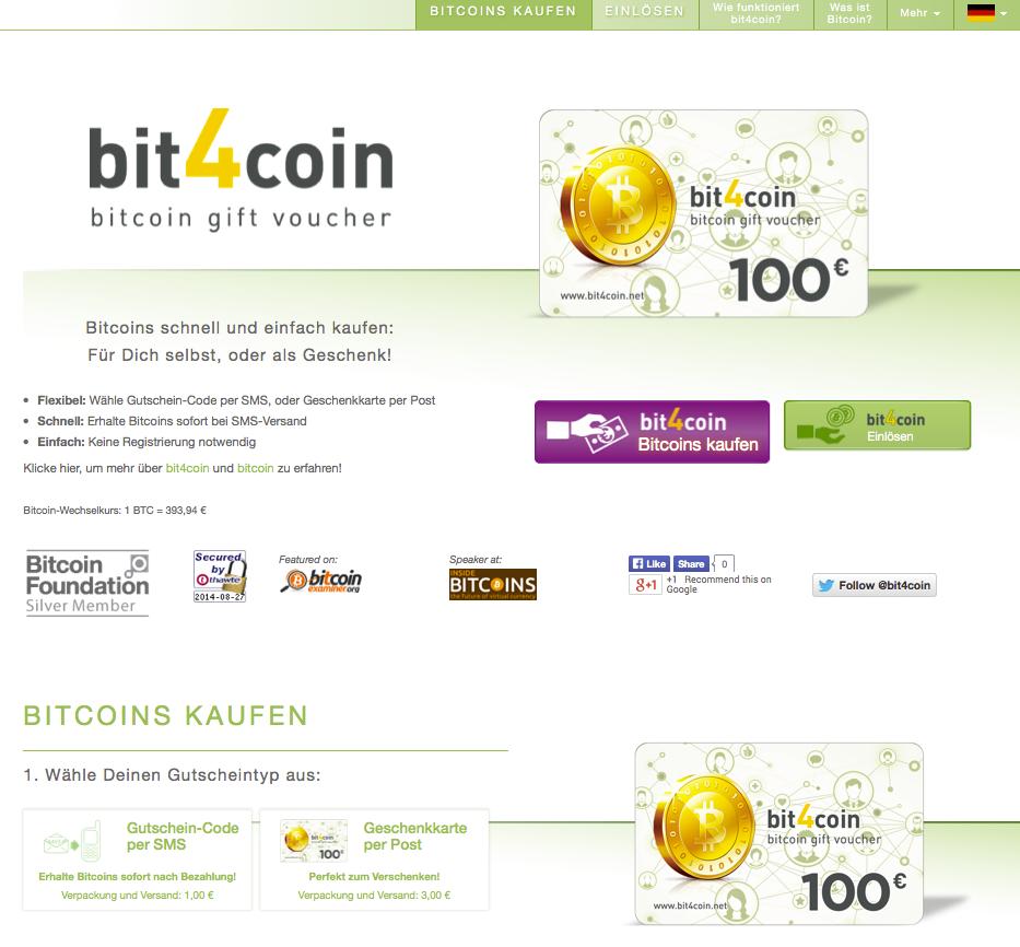 Bitcoins kaufen bei bit4coin.net